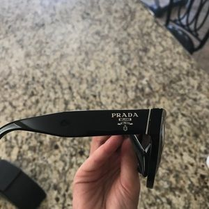 d40ad62ce4c6 Prada Accessories - Prada Cat Eye Oversize Black Sunglasses